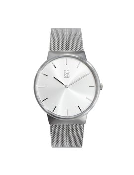 Minimal Silver Watch   M2 by Rose Gold & Black