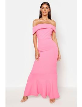 Bardot Sleeve Detail Maxi Dress by Boohoo