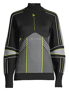 Run Geometric Turtleneck Pullover by Adidas By Stella Mc Cartney