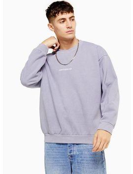 Grey Wash Amsterdam Sweatshirt by Topman