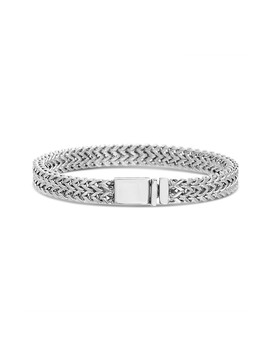 Wavy Foxtail Chain Stainless Steel Bracelet by Reinforcements
