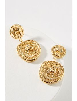 Amber Sceats Franco Coin Drop Earrings by Amber Sceats