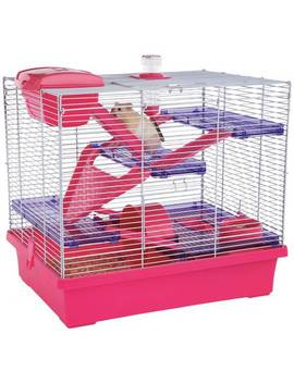 Rosewood Pink/Purple Pico Hamster Cage   X Large by Argos