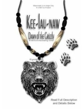 Rugged Great Bear Necklace   Grizzly Buffalo Bone Bead Jewelry Gift   Free Ship* by Ebay Seller