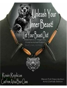 Unleash Your Inner Beast Bear Claw Necklace   Grizzly Hat Band   Free Ship New' by Ebay Seller