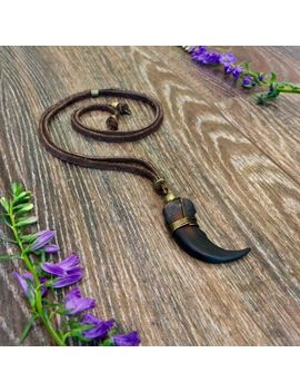 Grizzly Bear Claw Leather Necklace by Ebay Seller