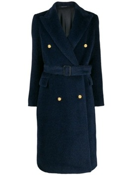 Double Breasted Midi Coat by Tagliatore