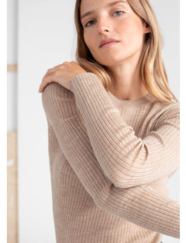 Fitted Wool Knitted Top by & Other Stories