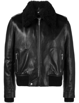 Shearling Collar Flight Jacket by Saint Laurent