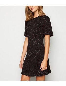 Black Spot Jersey Mini Dress by New Look