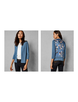 Narrnia Printed Back Cardigan by Ted Baker