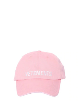 Logo Embroidered Cotton Baseball Hat by Vetements