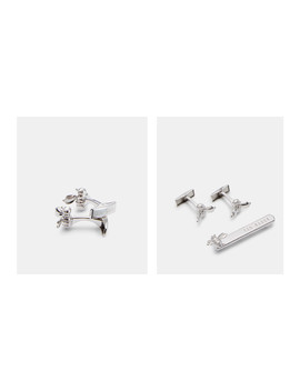 Bee Cufflinks And Tie Bar Set by Ted Baker