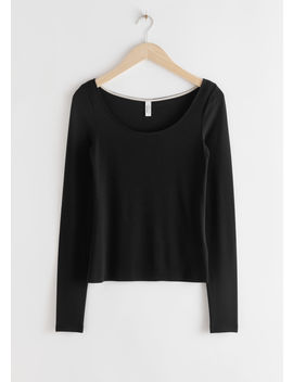 Scoop Neck Lyocell Stretch Top by & Other Stories