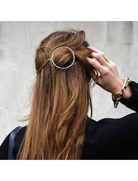 """1 3/4"""" Legierung Kreis Haar Klammer Stilvollen Haar Clip Minimalistisch Haar Clips Haarspange Geometrische Haar Accessoire 5pcs 102607 by Etsy"""
