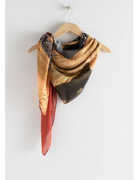 Desert Graphic Print Scarf by & Other Stories