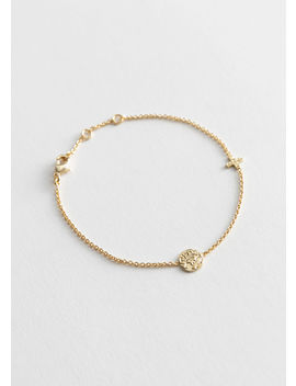 Duo Pendant Thin Chain Bracelet by & Other Stories