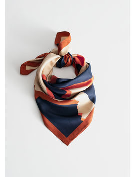 Graphic Print Satin Scarf by & Other Stories