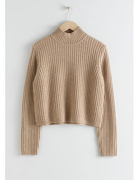 Ribbed Wool Relaxed Turtleneck by & Other Stories