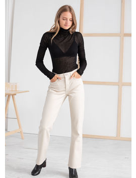 Kick Flare Stretch Ecru Jeans by & Other Stories