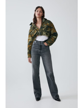 Cropped Camouflage Jacket Jacketswoman by Zara