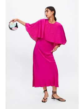 Flowing Cape Sleeve Dress Dresses by Zara