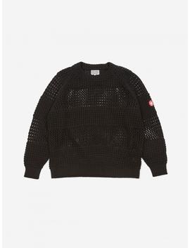 C.E Cav Empt Net Waffle Knitted Sweater   Black by Cav Empt