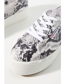 Superga Snake Platform Sneakers by Superga
