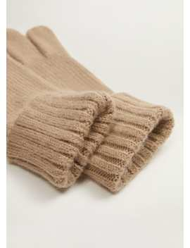 Ribbed Knit Gloves by Mango