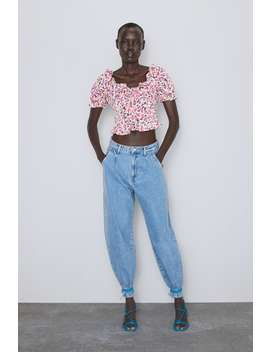 Floral Printed Top Topswoman by Zara