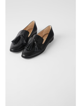 Mocassin Met Kwastjes En Dierenprint Schoenendames Shoes & Bags by Zara