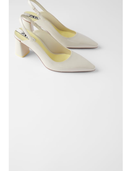 Slingbacks Met Brede Hak Schoenendames Shoes & Bags by Zara