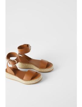 Leren Minisleehak Met Enkelbandje Schoenendames Shoes & Bags by Zara