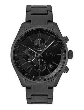 Men's Chronograph Grand Prix Black Stainless Steel Bracelet Watch 44mm by General