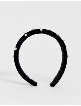 New Look Studded Padded Headband In Black by New Look
