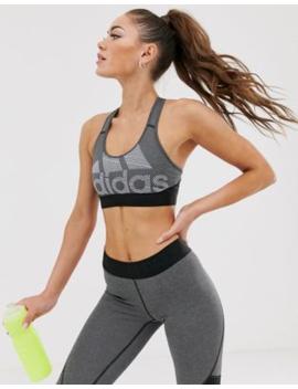Adidas Training – Svart Behå Med Logga by Adidas