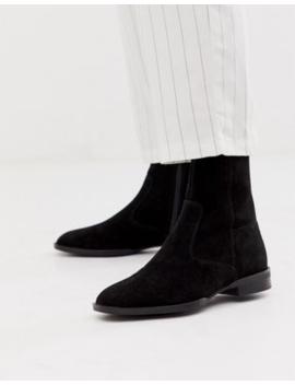 Asos Design Alfie Suede Sock Boots In Black by Asos Design