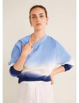 Bawełniany Cieniowany Sweter by Mango