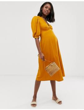 Asos Design Maternity – Exklusives Freizeikleid Mit Verdrehter Vorderseite by Asos