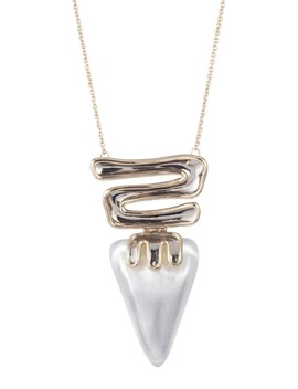 Sculptural Hinge Pendant Necklace by Alexis Bittar