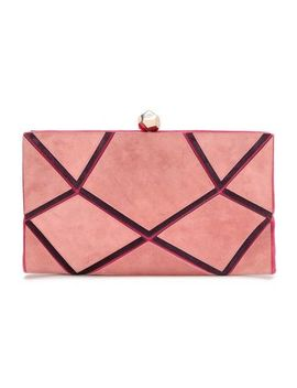 Paneled Suede Clutch by Roger Vivier