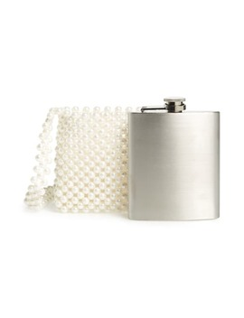 Imitation Pearl Flask Holder Crossbody Bag by Skinnydip