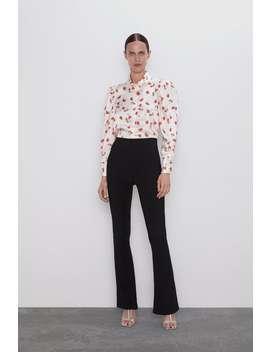 Floral Print Blouse Topswoman by Zara