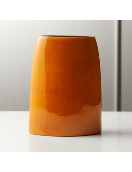 Marvin Orange Vase by Crate&Barrel