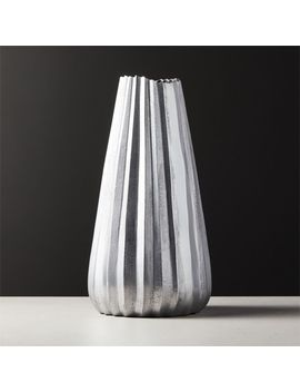 Odette Silver Vase by Crate&Barrel