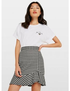 Dogtooth Mini Skirt by Miss Selfridge