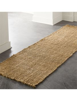 Leno Natural Handwoven Jute Runner 2.5'x8' by Crate&Barrel