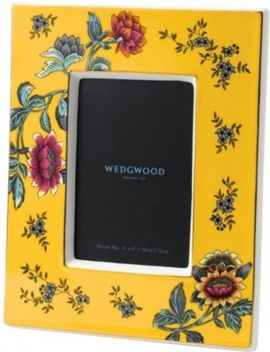 "Wonderlust Yellow Tonquin Photo Frame 4"" X 6"" by Wedgwood"