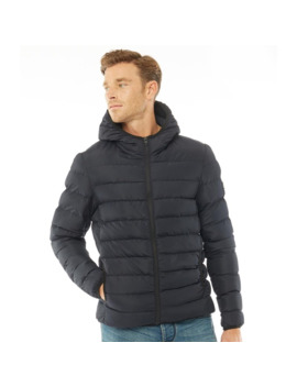 French Connection Mens Row 2 Hooded Jacket Marine by French Connection