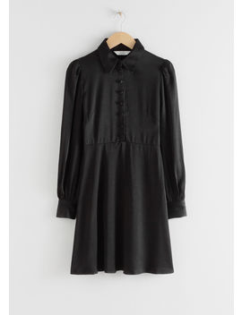 Satin Mini Shirt Dress by & Other Stories